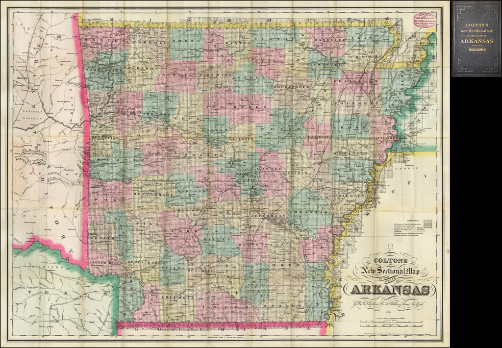 Colton's New Sectional Map of the State of Arkansas. By G.W.  & C.B. Colton