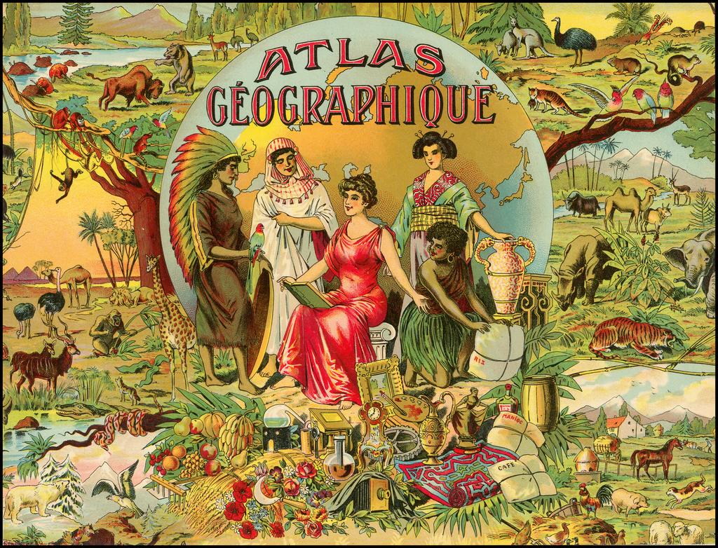 [Decorative Title] Atlas Geographique By Saussine