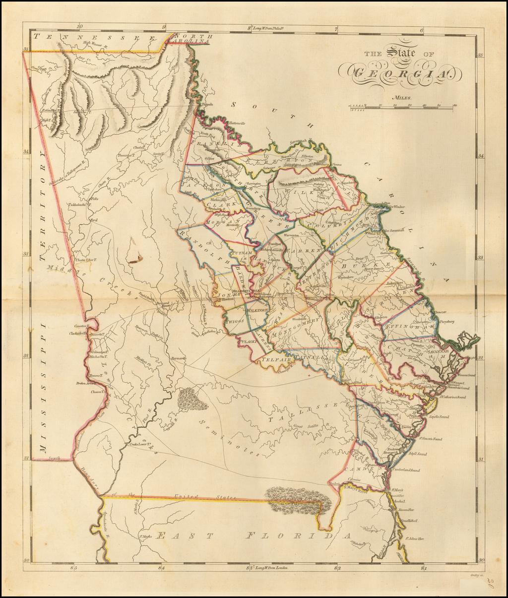 The State of Georgia By Mathew Carey