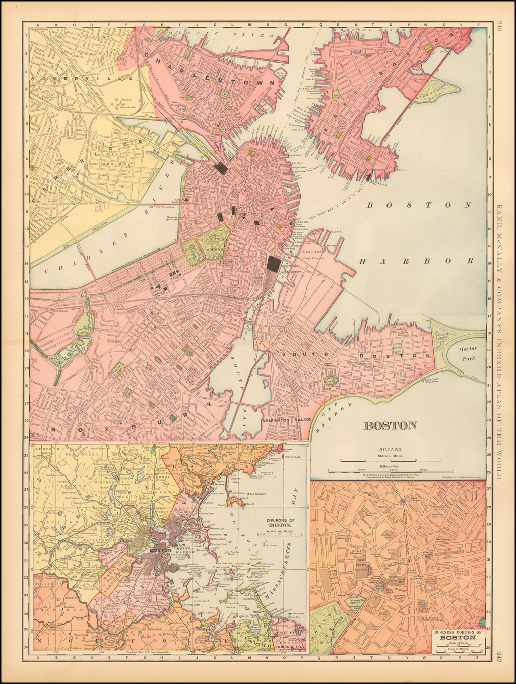Boston By Rand McNally & Company
