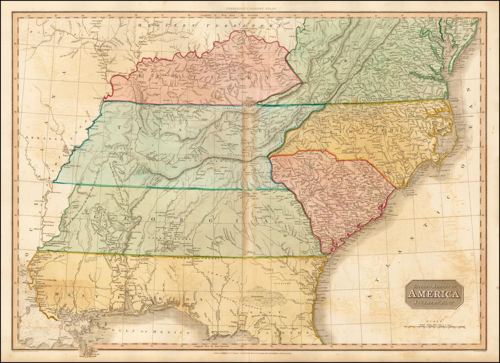 United States of America, Southern Part By John Pinkerton