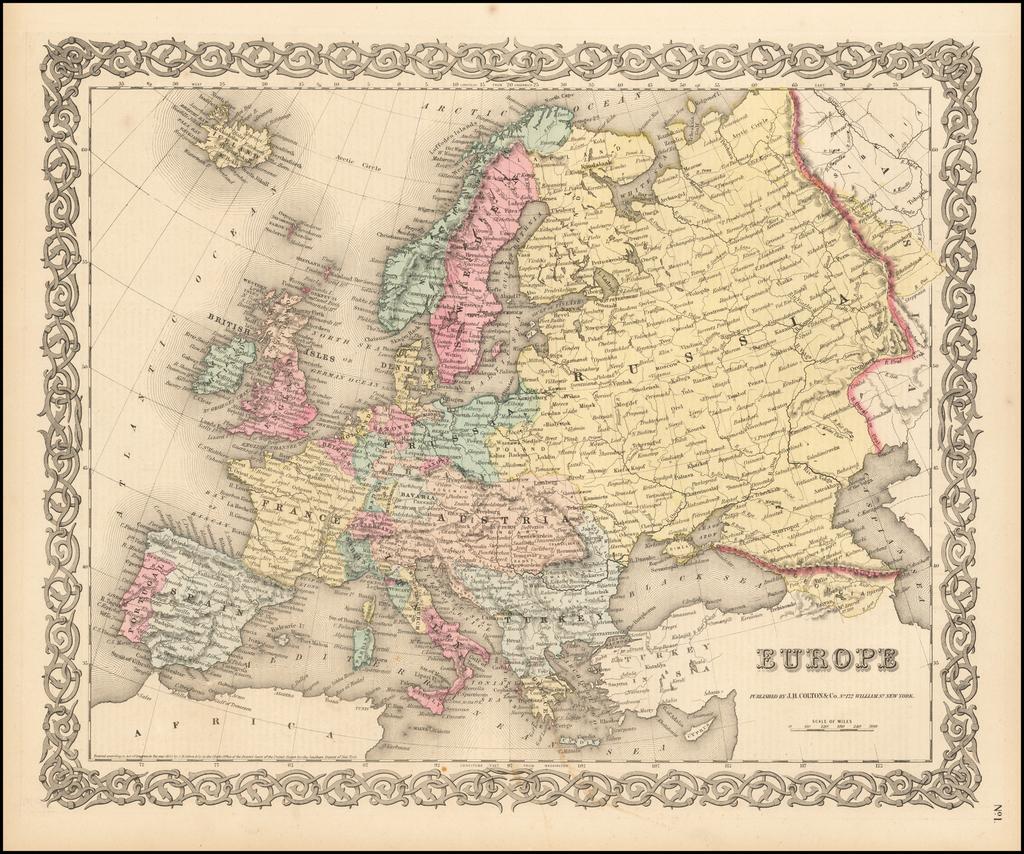 Europe By Joseph Hutchins Colton
