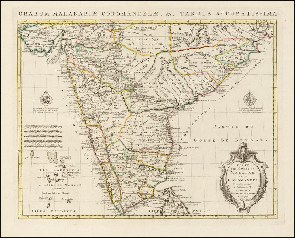 Carte des Cotes de Malabar et de Coromandel       - Barry