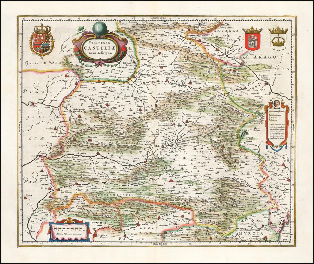 Utriusque Castiliae nova descriptio By Willem Janszoon Blaeu