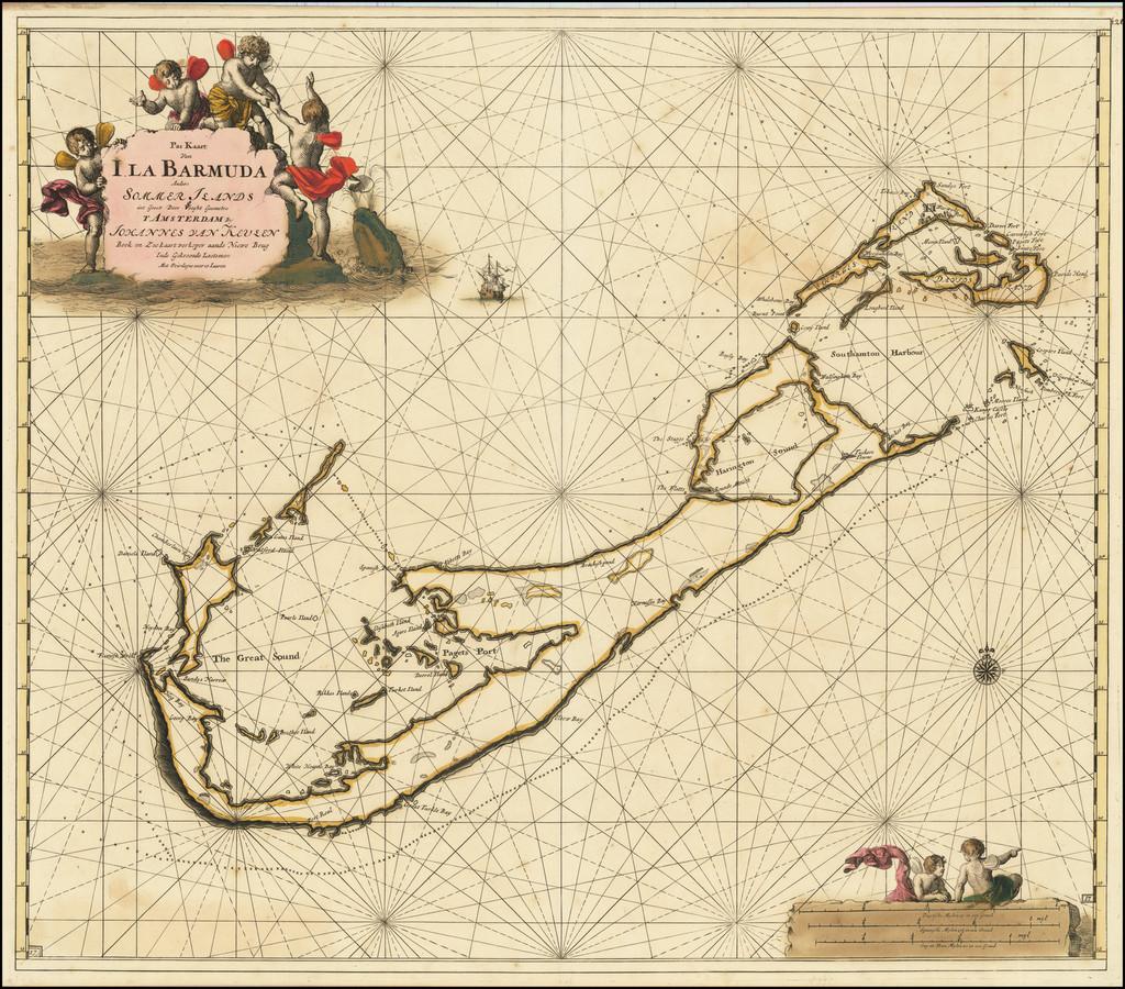 Bermuda Map By Johannes Van Keulen