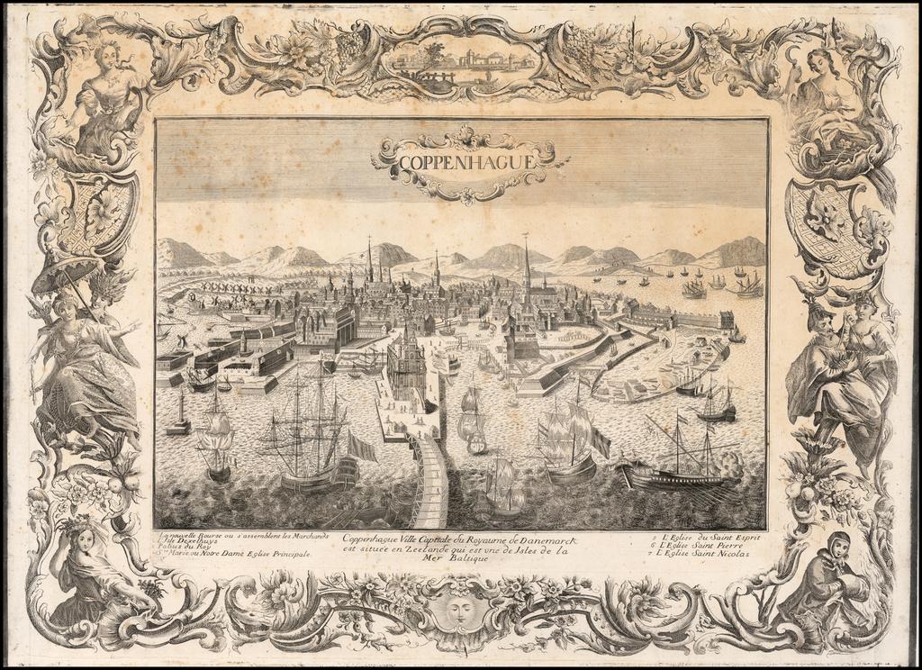 Copenhague  Ville Capitale du Royaume de Danemarck est située en Zeelande qui est une des Isles de la Mer BALTIQUE By Anonymous