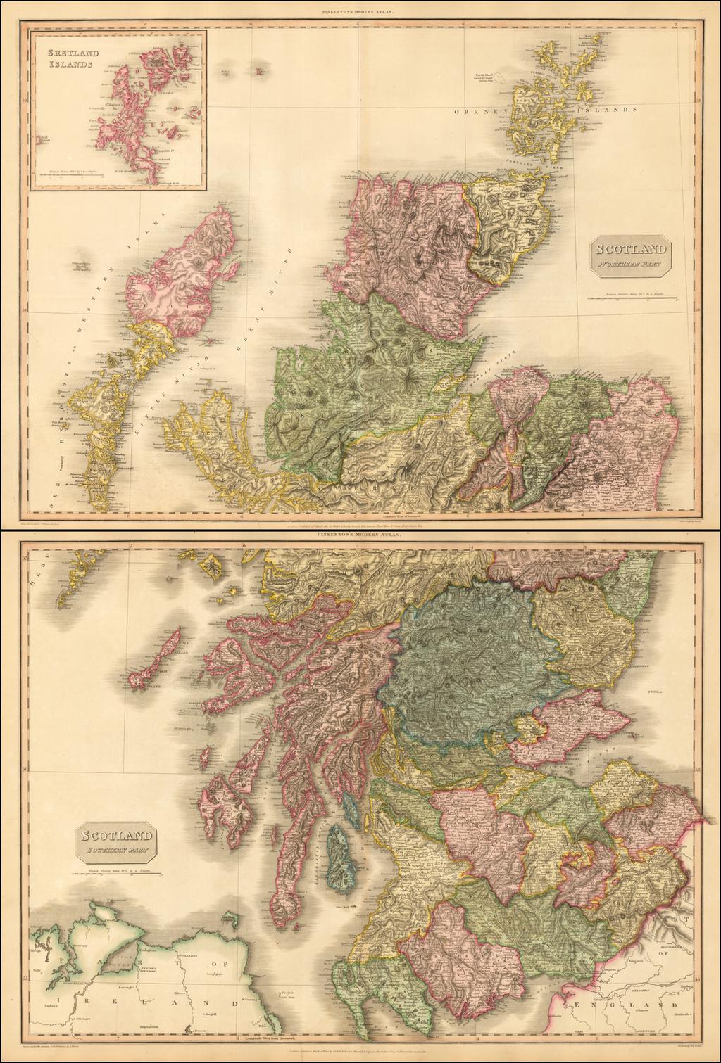 Scotland (Northern Part) [and] Scotland (Southern Part) By John Pinkerton