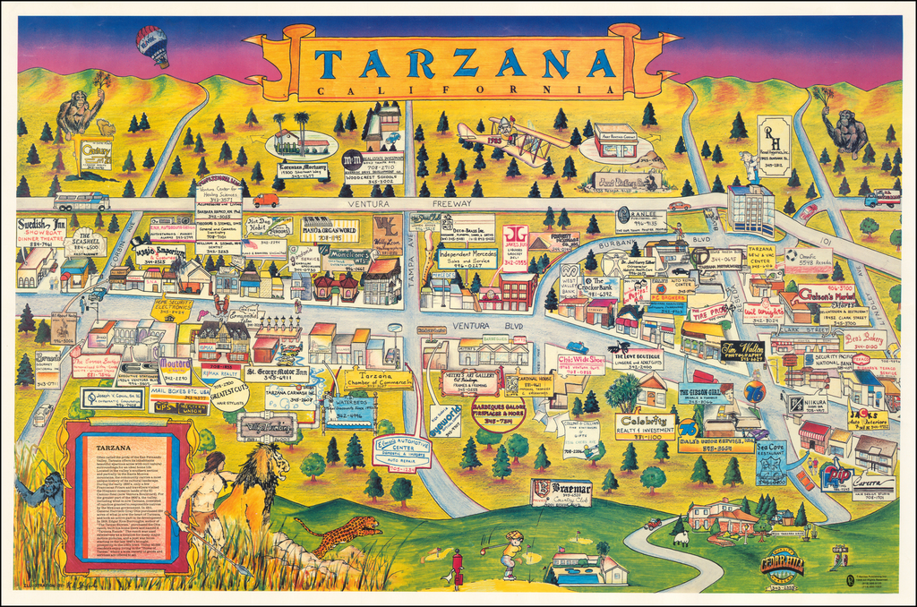 Tarzana, California (Pictorial View) By Anonymous