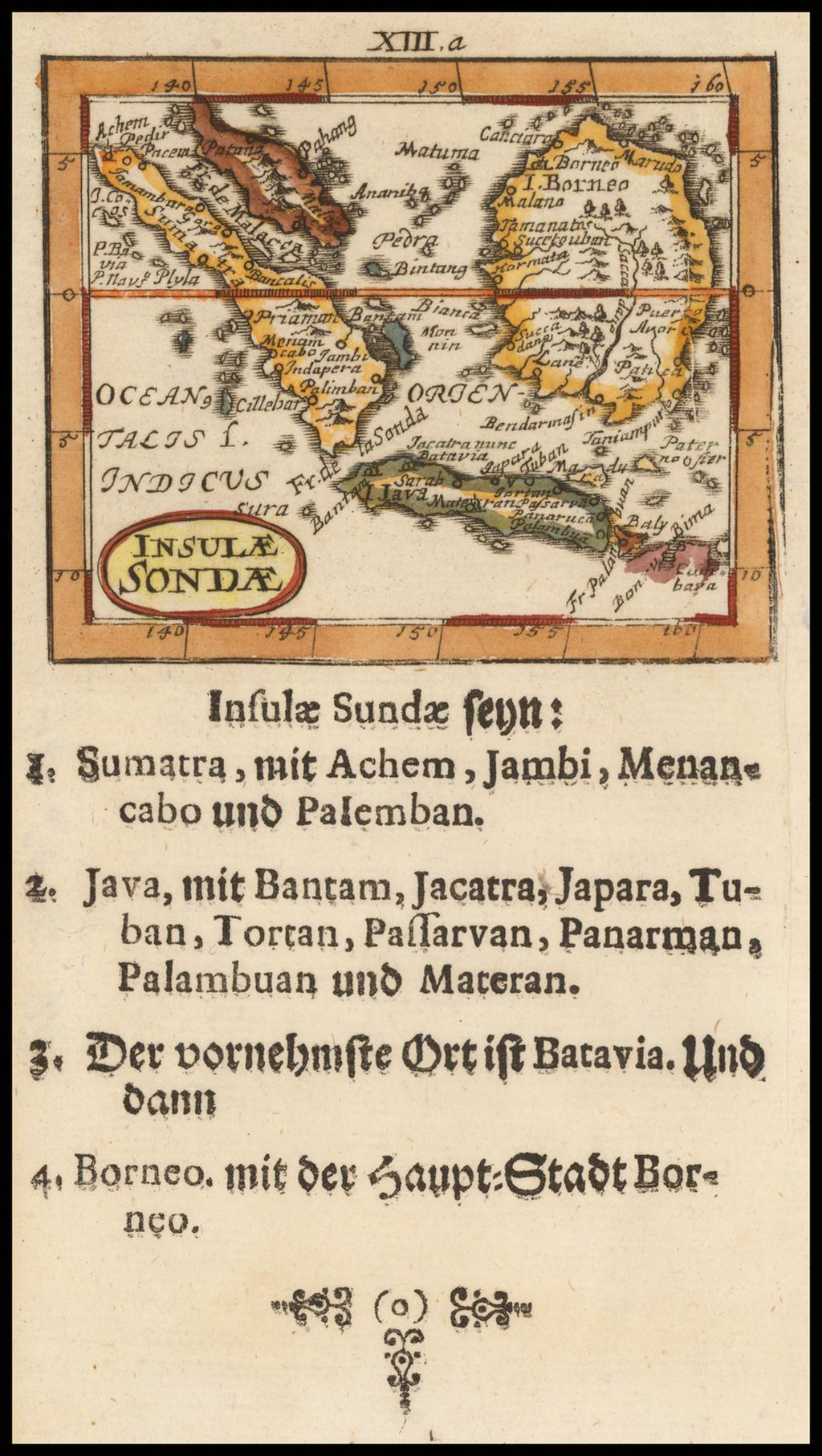 Insulae Sonde (Straits of Malacca, Java and Borneo) By Johann Ulrich Muller
