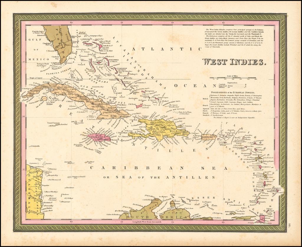 West Indies By Samuel Augustus Mitchell