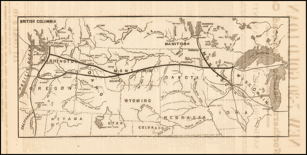 NEW 7-30 GOLD LOAN OF THE Northern Pacific Railroad Co