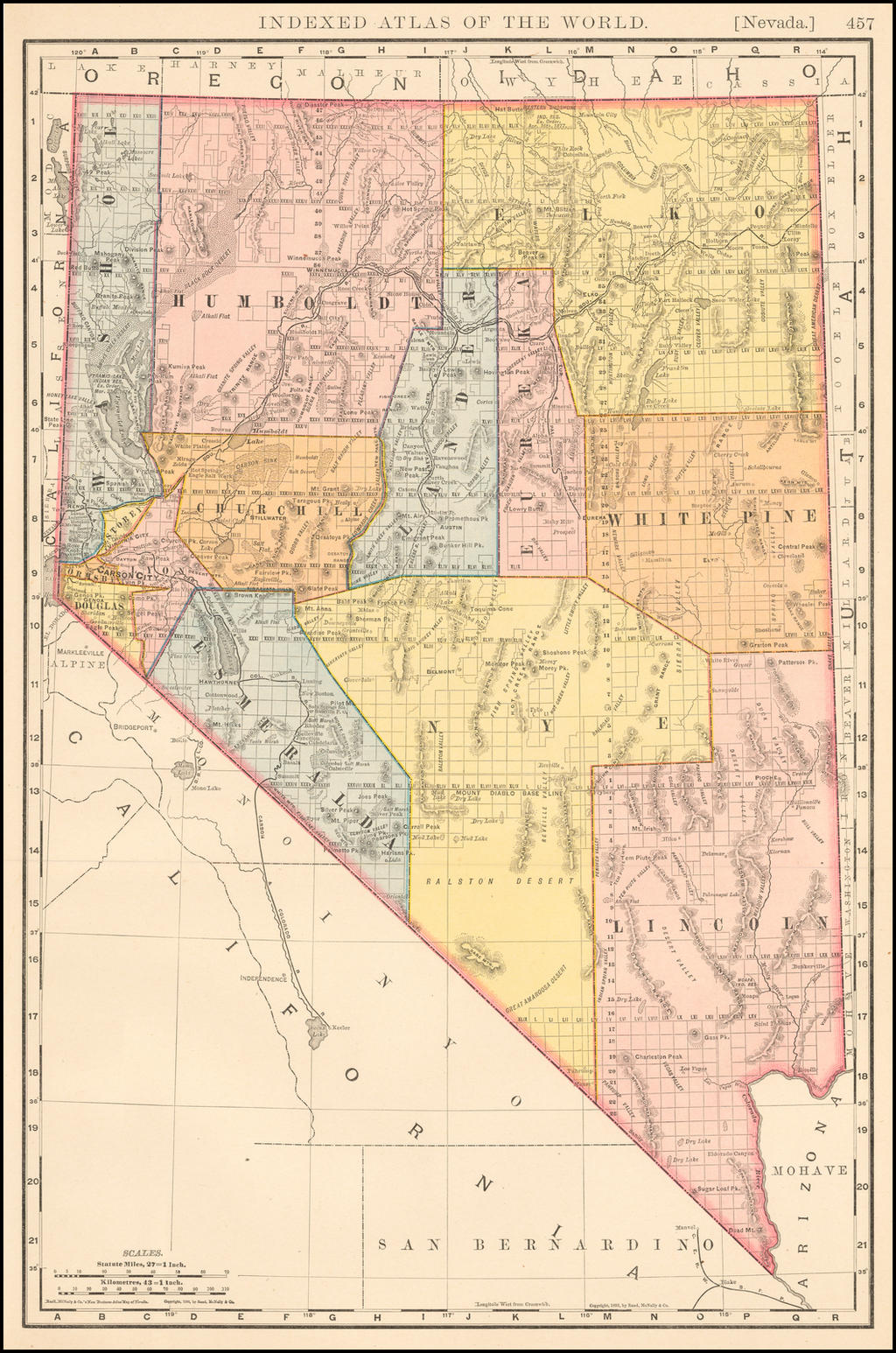 Nevada By Rand McNally & Company