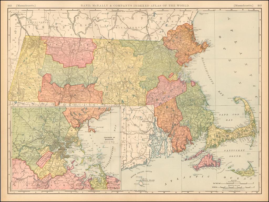 Massachusetts By Rand McNally & Company