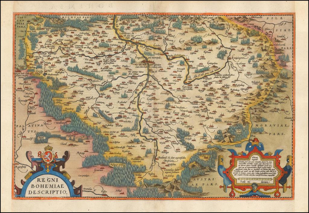 [Czech Republic] Regni Bohemiae Descriptio By Abraham Ortelius
