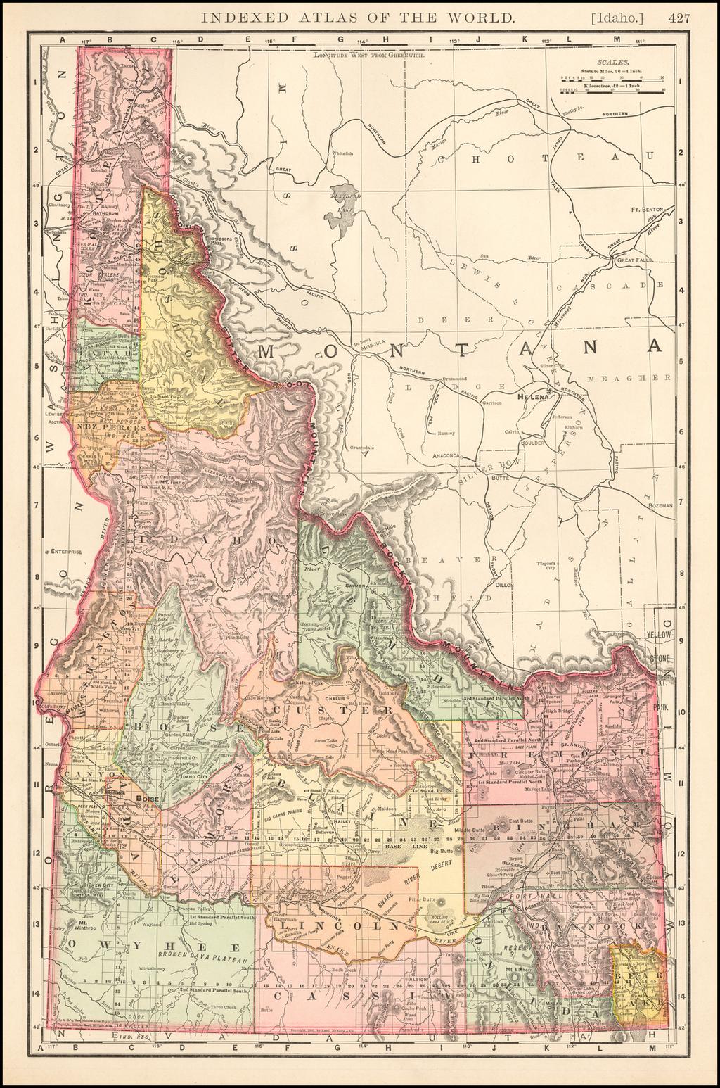 Idaho By Rand McNally & Company