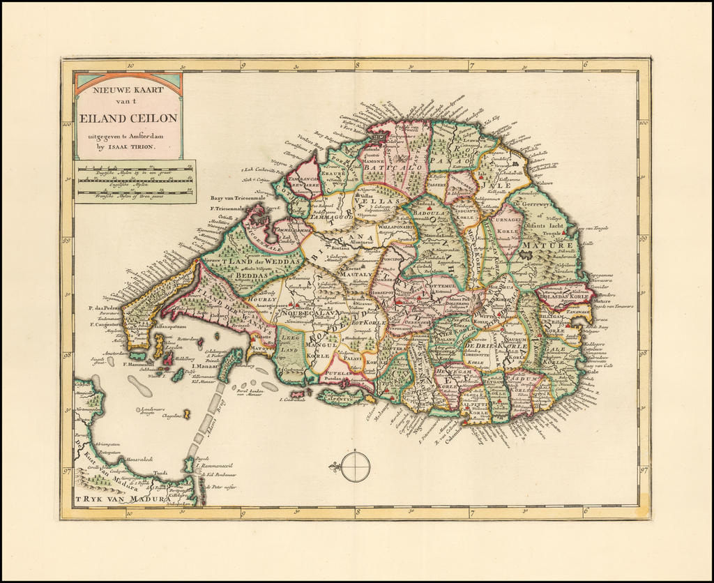 Nieuwe Kaart van t Eiland Ceilon . . .  By Issac Tirion
