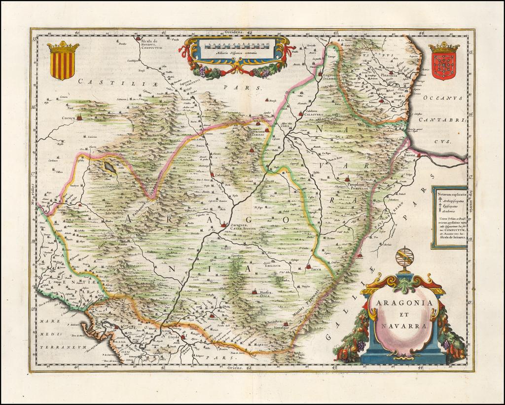 Aragonia Et Navarra By Willem Janszoon Blaeu