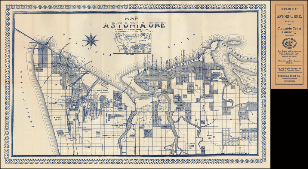 Map Astoria Ore.  Compiled & Published By Columbia Trust Co. By Columbia Trust Co.