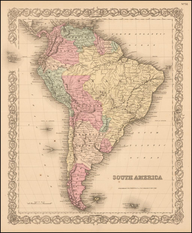 South America By Joseph Hutchins Colton