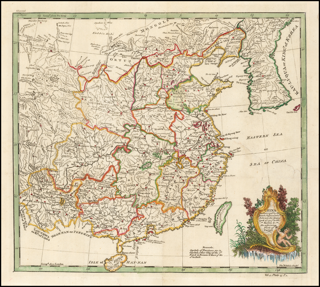 China as Surveyed by the Jesuit Missionaries between the Years 1708 & 1717 with Korea & the adjoining parts of Tartary By Thomas Kitchin