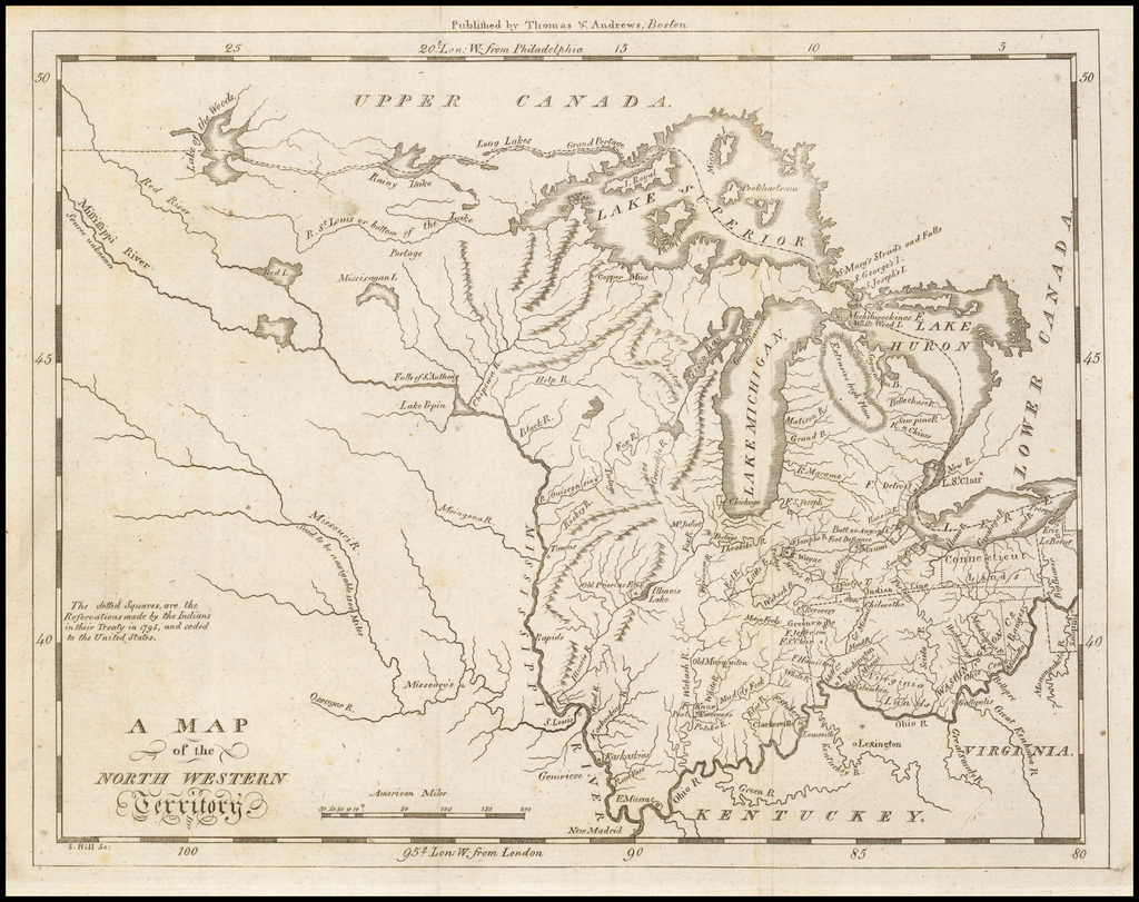 A Map of the North Western Territory By Jedidiah Morse