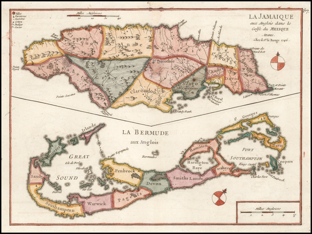 La Jamaique… [with] La Bermude… By George Louis Le Rouge