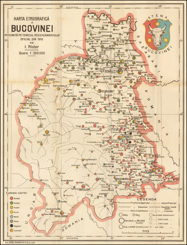 Harta Etnografica A Bucovinei Intocmita Pe Temeiul Recenzamantului