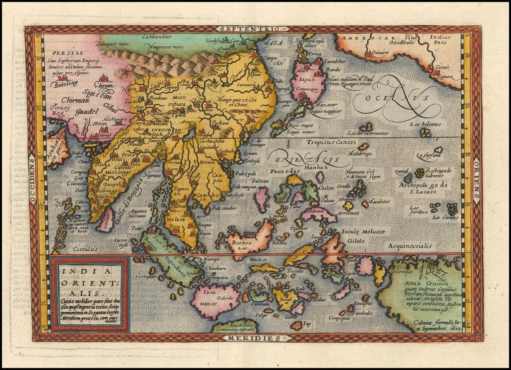 India Orientalis . . . 1600 By Johann Bussemachaer