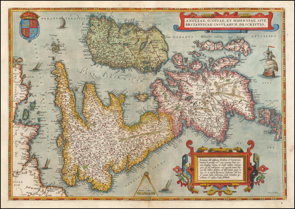 Angliae, Scotiae, Et Hiberniae Sive Britannicae Insularum Descriptio By Abraham Ortelius