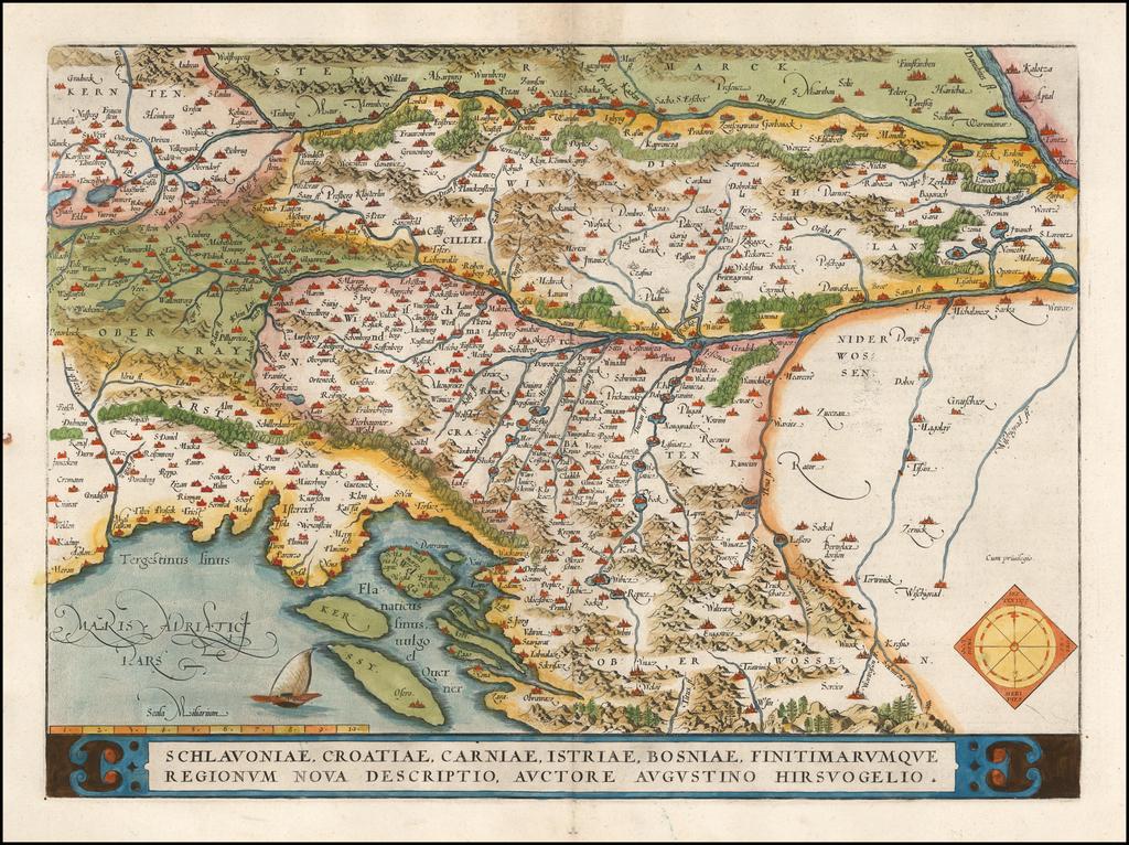 Schlavoniae,  Croatiae, Carniae, Istriae, Bosniae, Finitimarumque Regionum Nova Descriptio . . . (Unrecorded Variant Edition!) By Abraham Ortelius