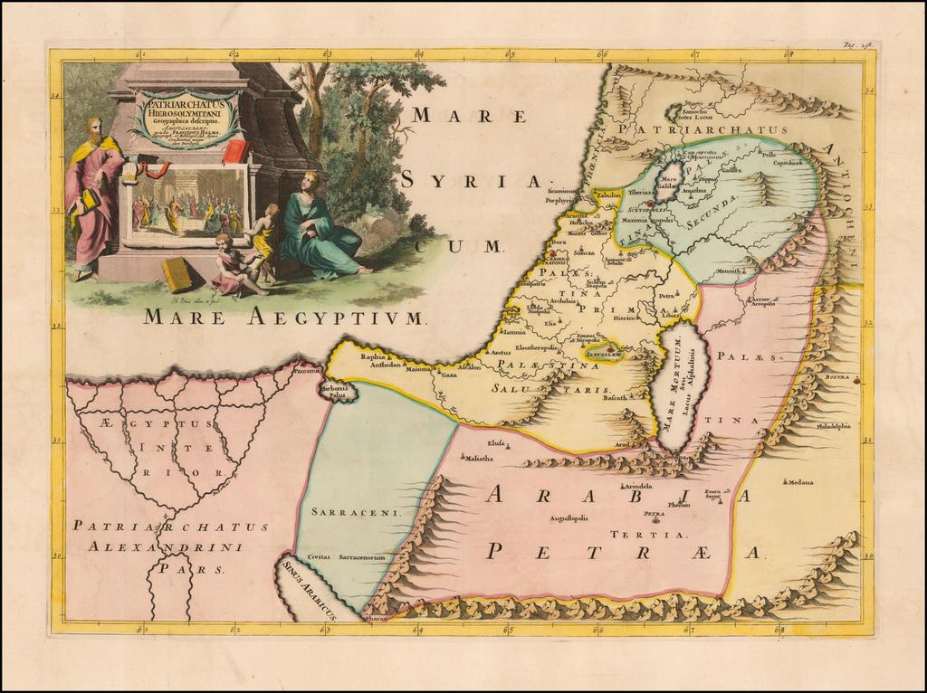 Patriarchatus Hierosolymitani Geographica descriptio By Francois Halma