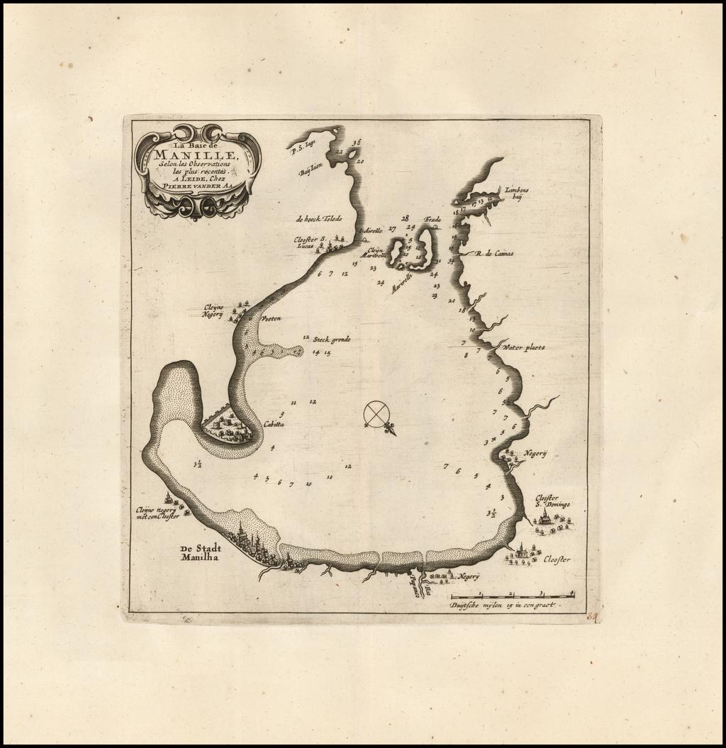 La Baie de Manille, Selon les Observations les plus recentes . . .  By Pieter van der Aa