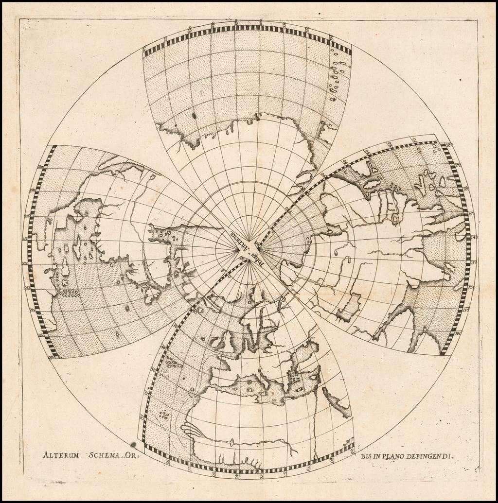 (Northern Hemisphere)  Alterum Schema Orbis Plano Depingendi By Daniel Angelocrator