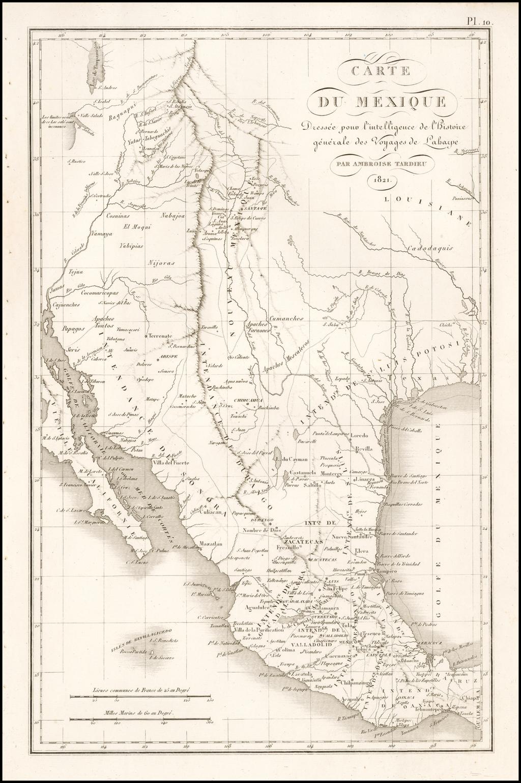 Carte du Mexique . . . 1821 By Ambroise Tardieu