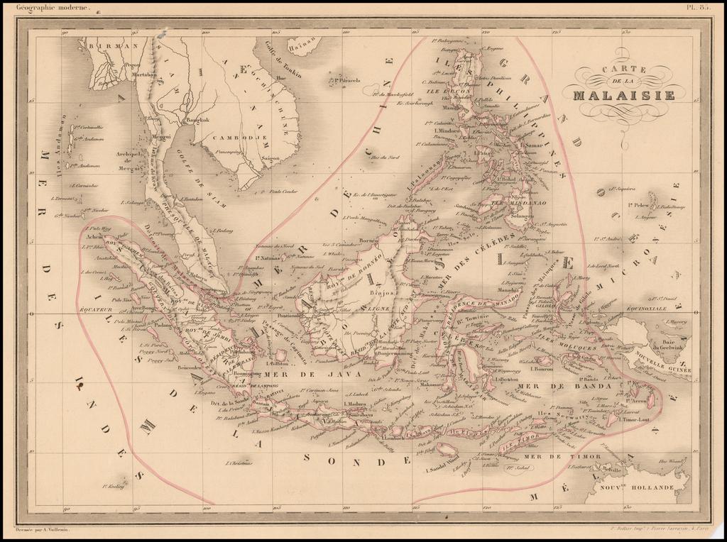 Carte de la Malaisie By Alexandre Vuillemin