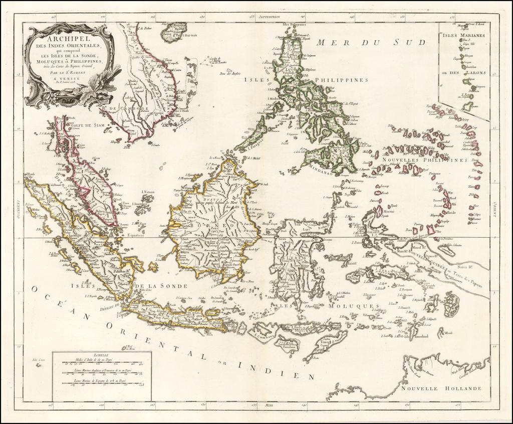 Archipel Des Indes Orientales, qui comprend Les Isles De La Sonde, Moluques et Philippines, tirees des Cartes du Neptune Oriental . . .  1778 By Paolo Santini