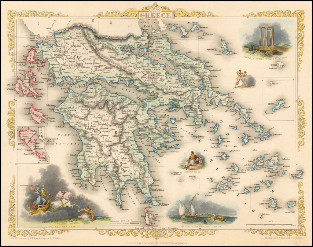 Ionian Isles and Greece By John Tallis