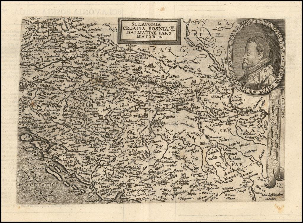 Sclavonia Croatia, Bosnia & Dalmatiae Pars Maior By Matthias Quad