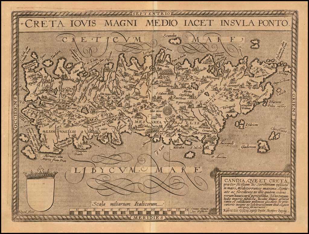 Creta Iovis Magni Medio Iacet Insula Ponto By Matthias Quad / Johann Bussemachaer