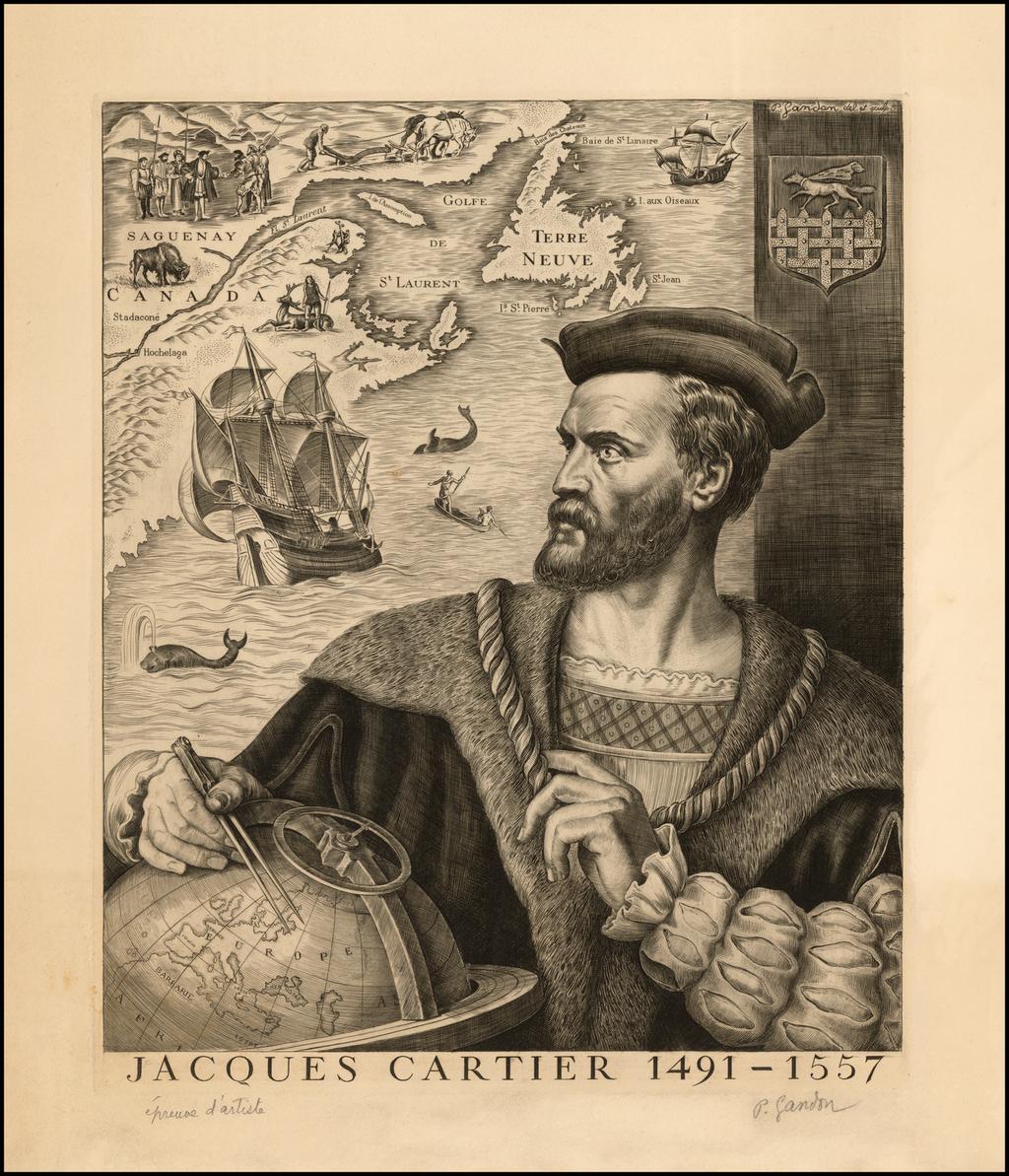 (Canada)  Jacques Cartier 1491-1557 By P. Landon