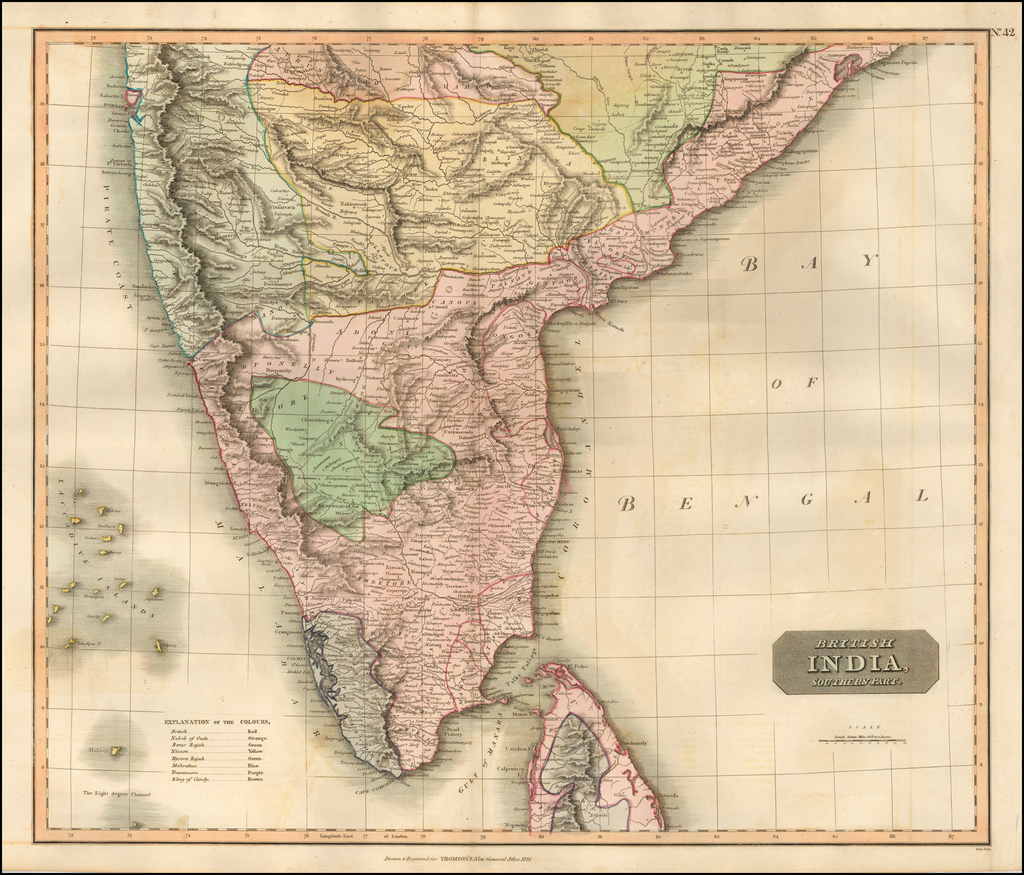British India, Southern Part By John Thomson