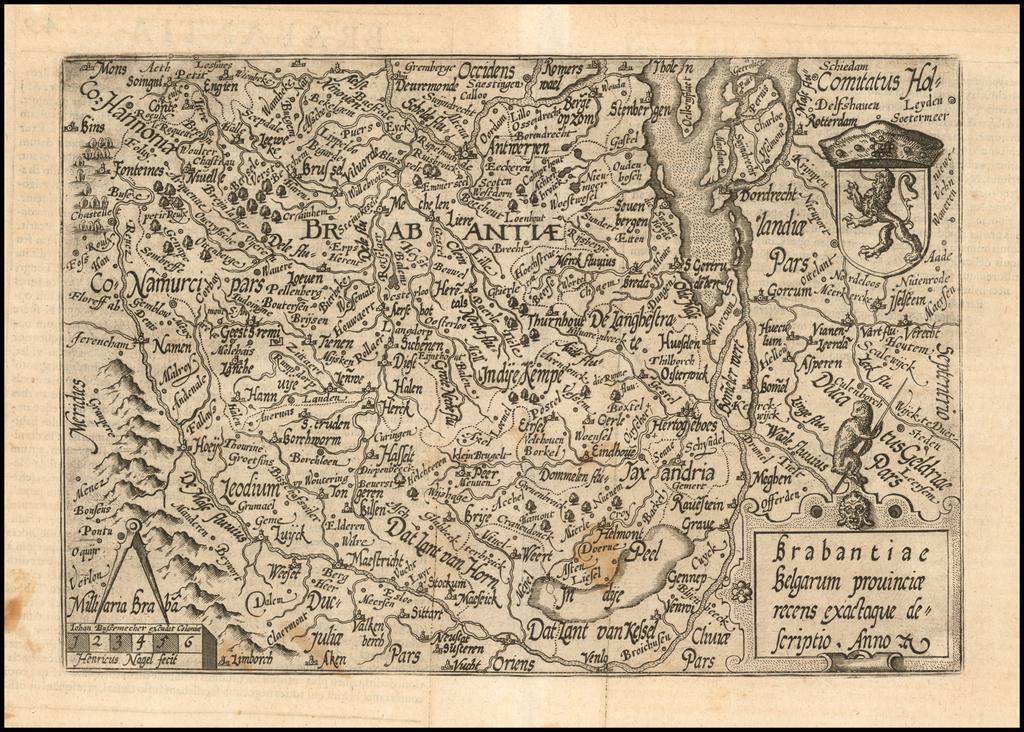Brabantiae Belgarum provinciae recens exactque descriptio . . .  By Matthias Quad / Janus Bussemacher