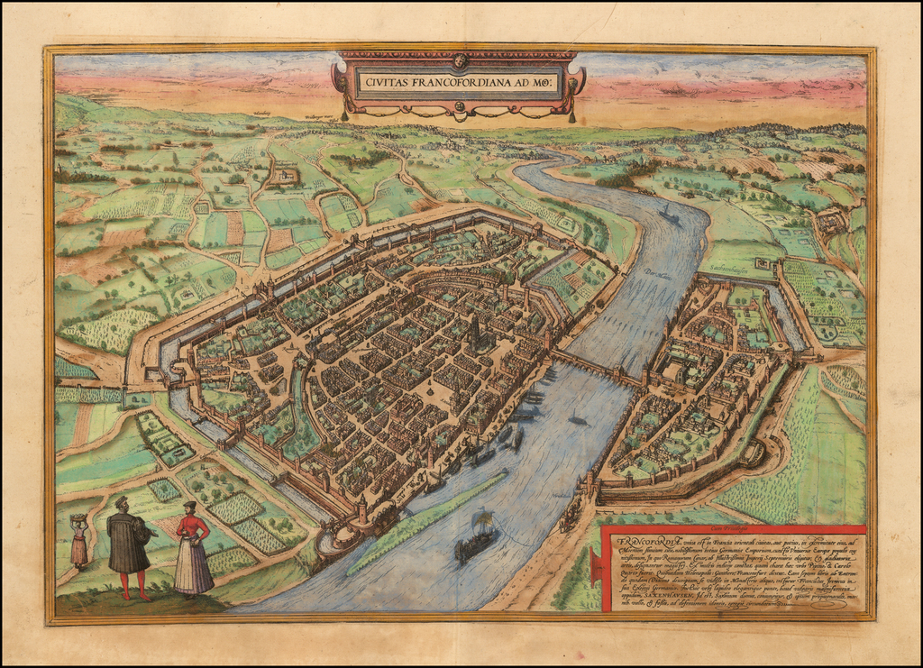Civitas Francofordiana Ad Mo: By Georg Braun  &  Frans Hogenberg