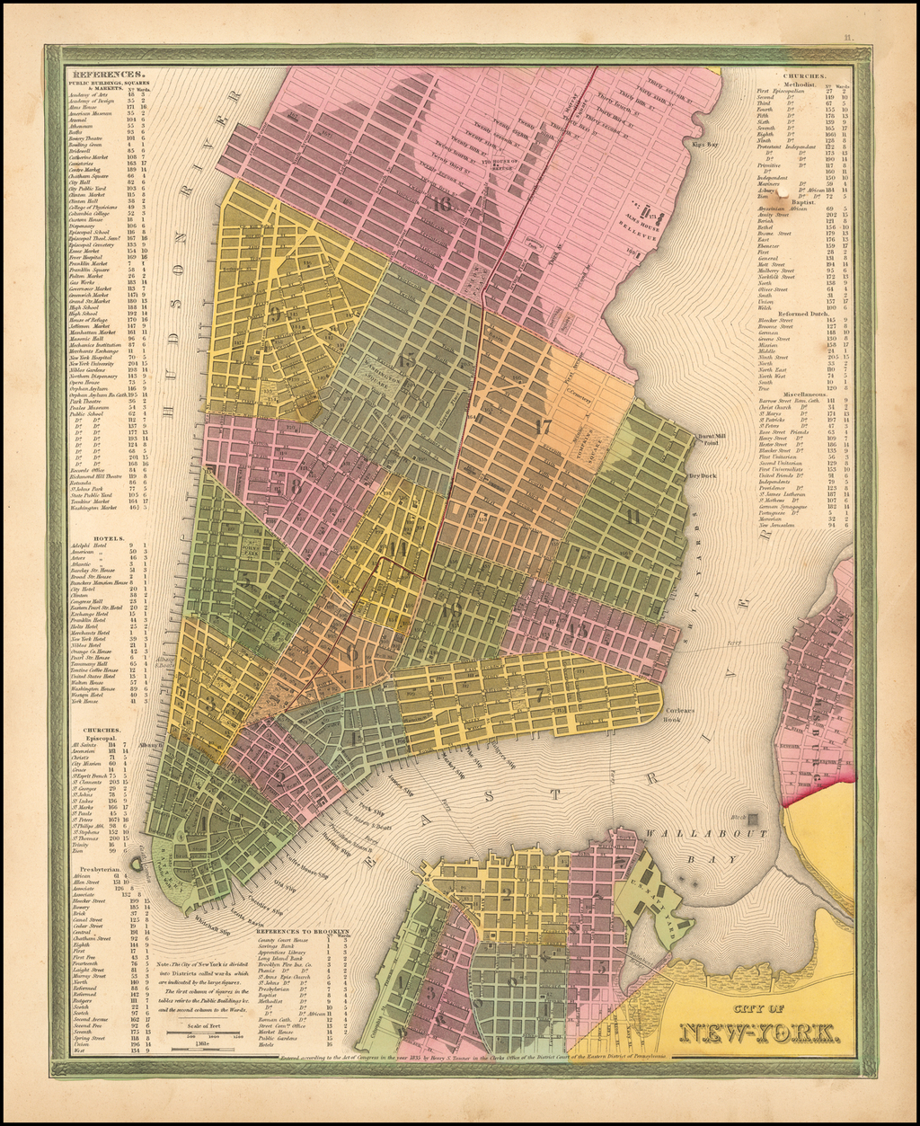 City of New-York By Samuel Augustus Mitchell
