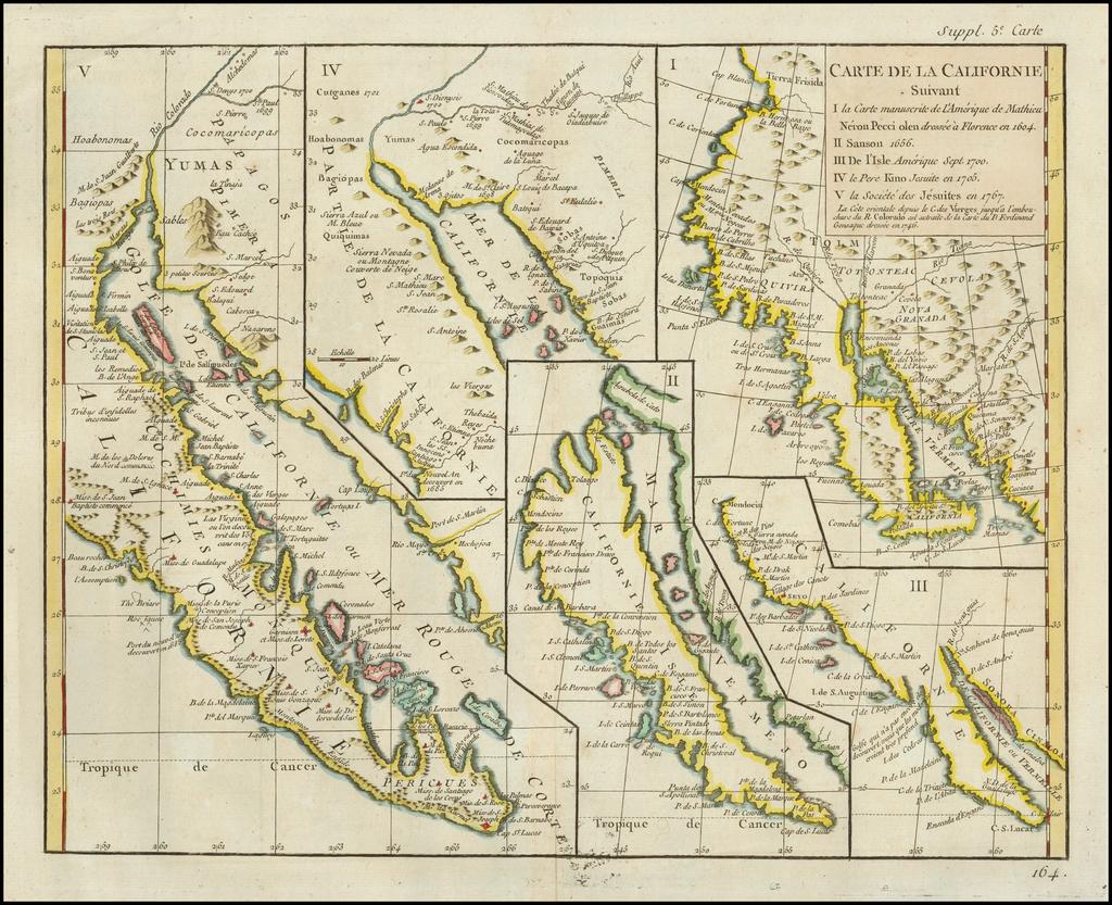 Carte De La Californie Suivant 1. La Carte manuscrite de l ...