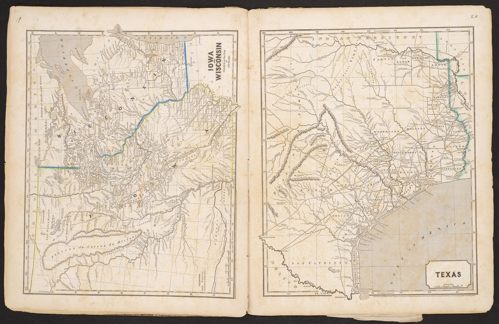 The Cerographic Atlas of the United States (Unique Colored Example!) By Sidney Morse  &  Samuel Breese