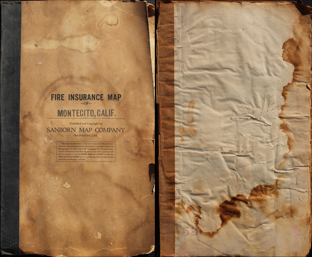 Fire Insurance Map of Montecito, California. By Sanborn Map Company