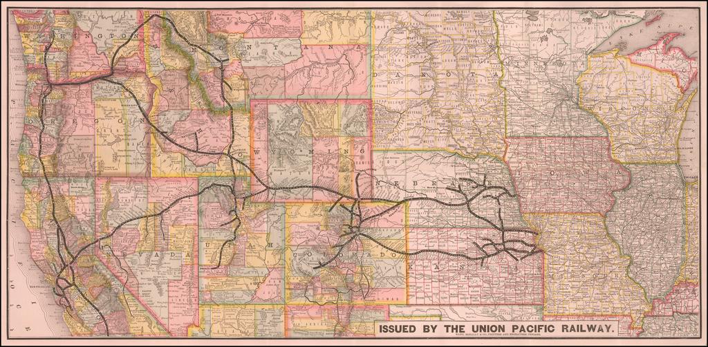 [Union Pacific Railway Map] By Rand McNally & Company