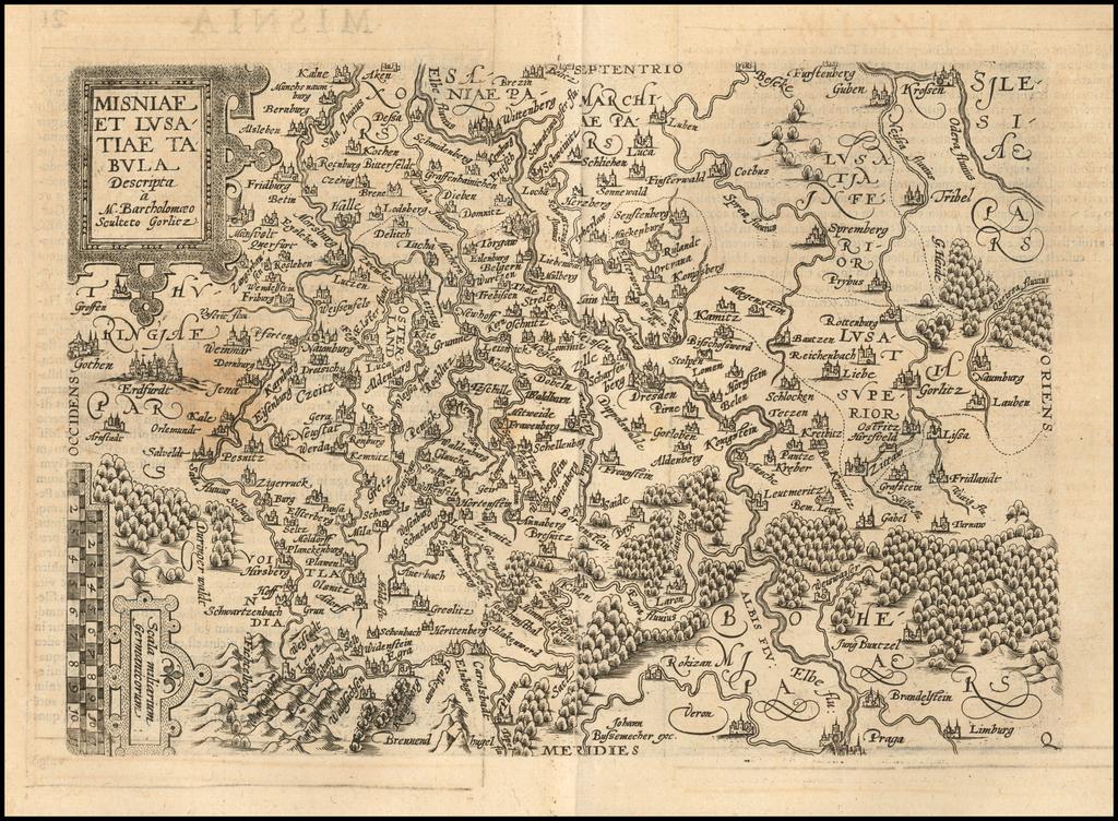 Misniae et Lusitiae Tabula . . .  By Matthias Quad / Janus Bussemacher