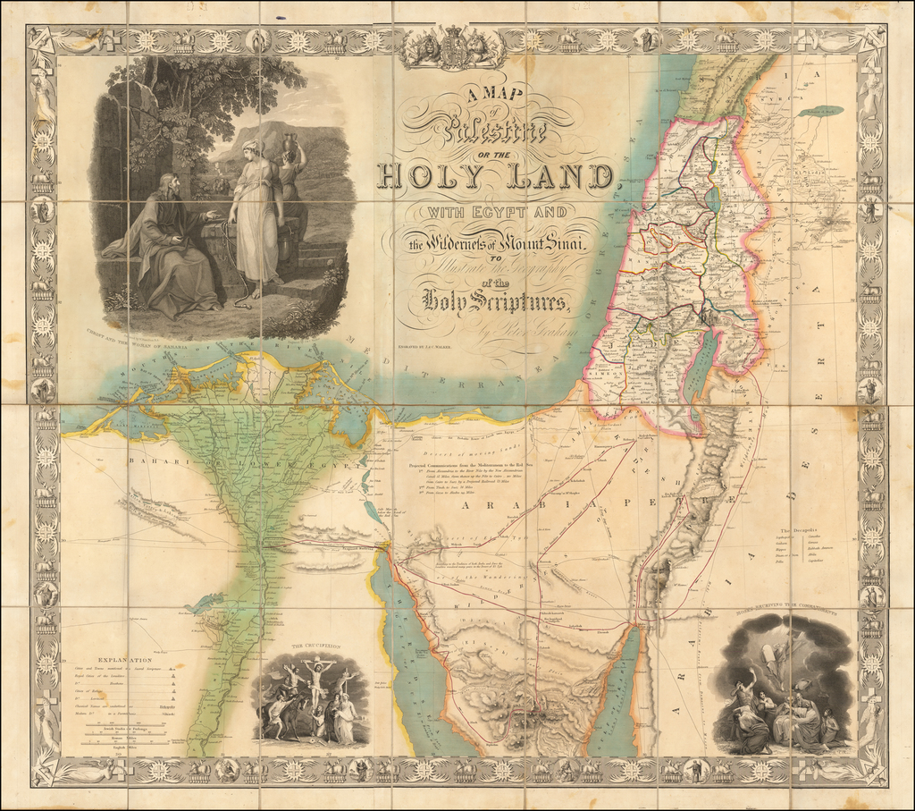 A Map of Palestine or the Holy Land with Egypt and the